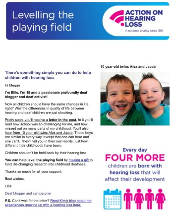 Childhood Hearing Loss email