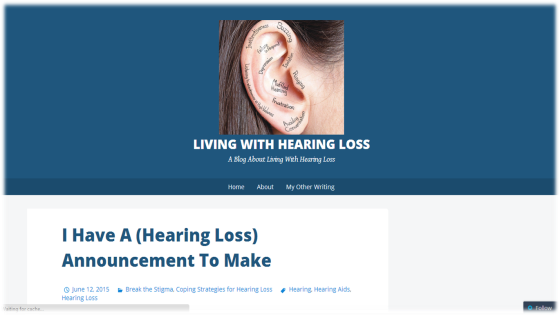 Living with a Hearing Loss' Blog