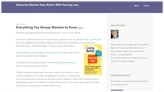 Hear Better With Hearing Loss' Blog