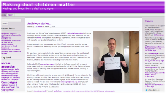 Making Deaf Children Matter's Blog