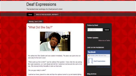 Deaf Expressions' Blog