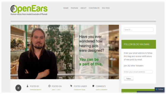 Phonak Open Ears' Blog