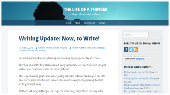 Life of a Thinker's Blog