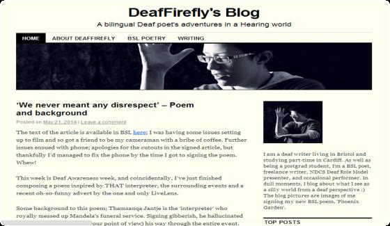 Deaf Firefly's Blog