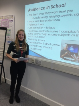 Deaf Awareness Talk for a group of Learning Support Assistants