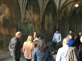 Tour Guide talking about the history