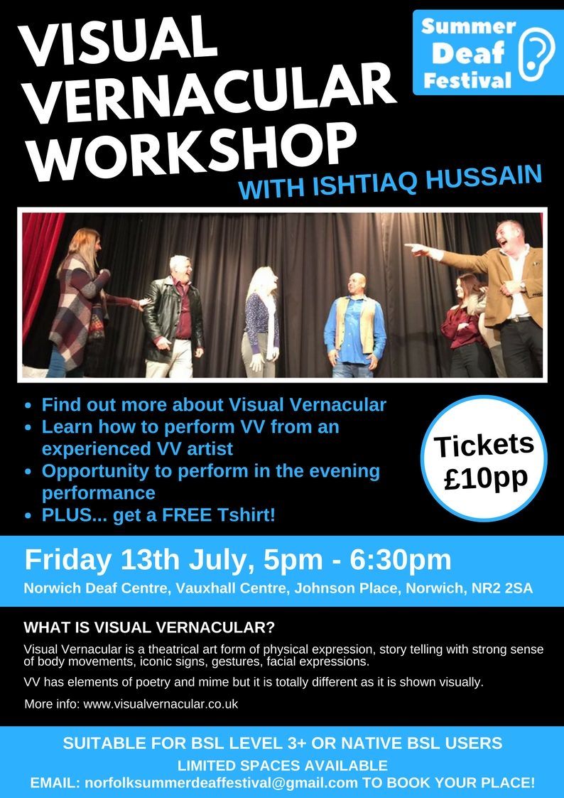 Ish Hussain Visual Vernacular Workshop Poster