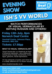 Ish Hussain Visual Vernacular Evening Show Poster