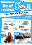 Summer Deaf Festival 2018 Poster